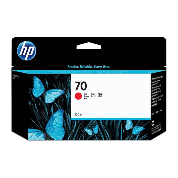 Image of Hp 70 Red 130ml Ink Cartridge Z3100 (c9456a)