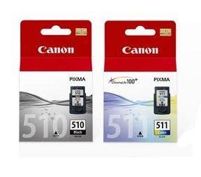 Image of Canon Pg510cl511cp 1x Pg-510 Black & 1x Cl-511 Colour