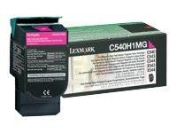 Image of Lexmark Magenta Toner Cartridge Hy 2k Pages (c540h1mg)