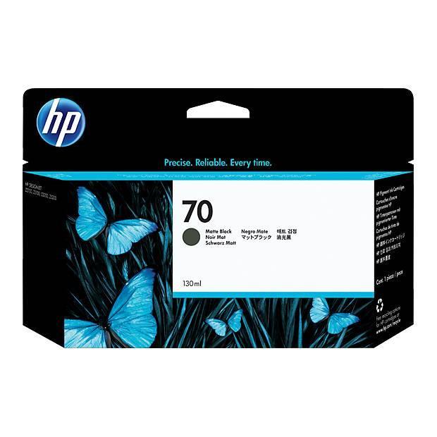Image of Hp 70 130ml Matte Black Ink Cartridge (c9448a)