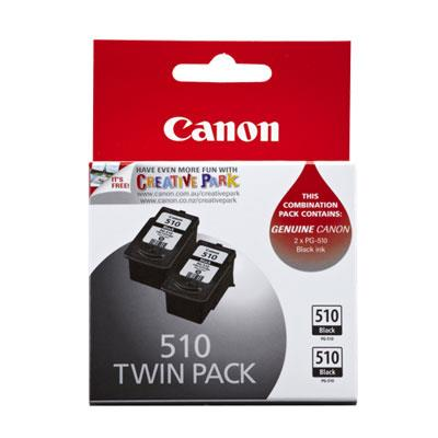 Image of Canon Pg510 Blk Ink Twin Pack 2 X 220 Pages Black