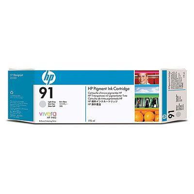 Image of Hp 91 775ml Print Cartridge 1 X Light Grey (c9466a)