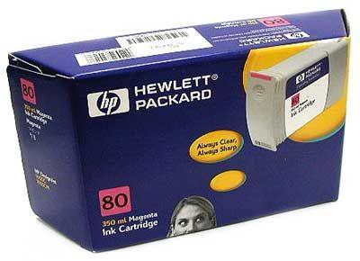 Image of Hp 80 Magenta Ink Cartridge 350ml (c4847a)