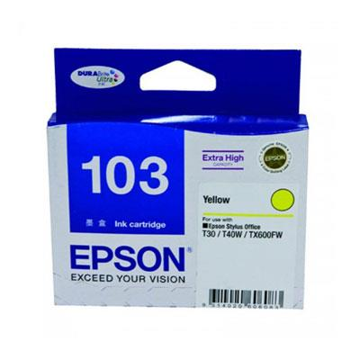 Image of Epson 103 High Yield Yellow Ink Cartridge