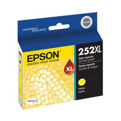 Image of Epson 252xl High Yield Yellow Ink Cartridge 1,100 Pages
