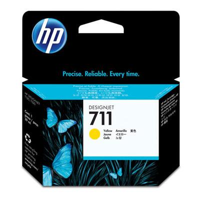 Image of Hp 711 29-ml Yellow Ink Cartridge Cz132a