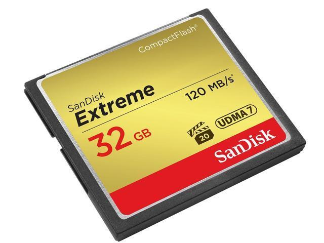 Image of Sandisk Sdcfxsb-032g-g46 Cfxsb 32gb Extreme Compactflash Memory Card