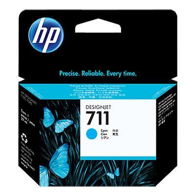 Image of Hp 711 29-ml Cyan Ink Cartridge Cz130a