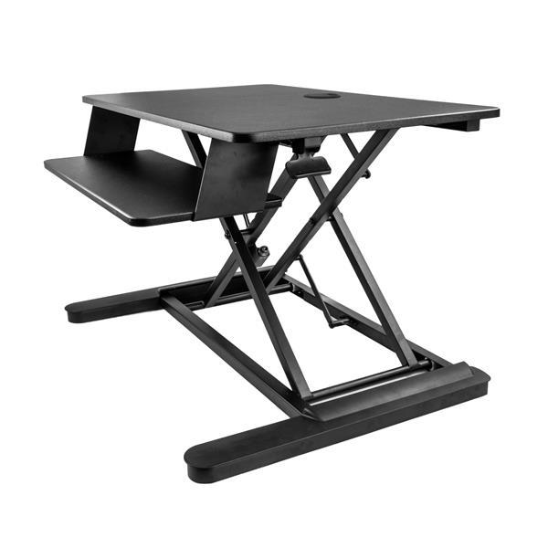 Image of Startech Sit Stand Desk Converter - 35in W - Adjustable Stand Up Desk Armstslg