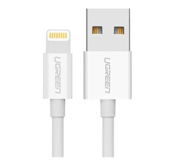 Image of Ugreen Usb Lighting Cable With Abs Case 1m White 20728