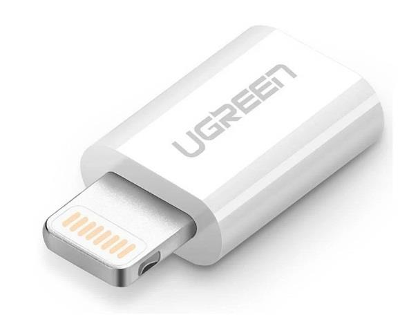 Image of Ugreen Micro Usb To 8 Pin Lighting Adapter White 20745