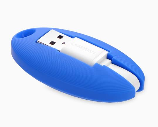 Image of Ugreen Portable Micro Usb Key Chain Cable - Blue-30309