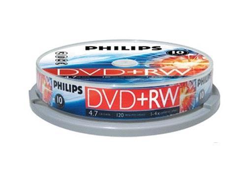 Image of Philips Dvd+rw / 4x / 10 Cake / Rewritable 916950