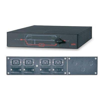 Image of Apc Service Bypass Panel- 230v; 32a; Mbb; Hardwire Input; (4) Iec-320 C19 Output