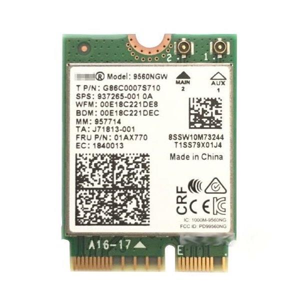 Image of Intel 9560.ngwg.nv Wireless-ac 9560 2230 2x2 Ac+bt Gigabit No Vpro