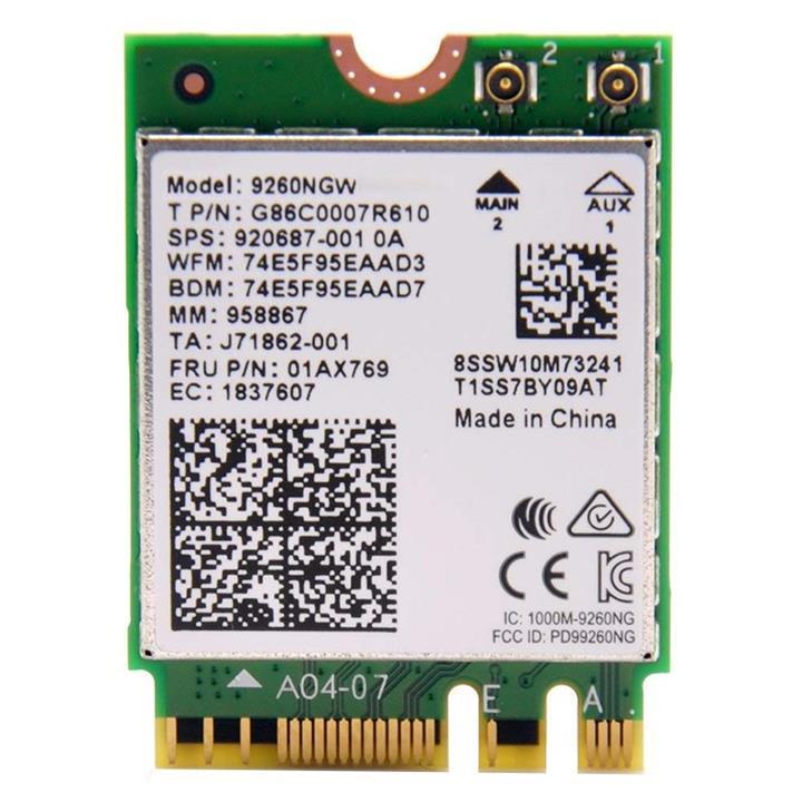 Image of Intel Dual Band Wireless-ac 9260 Wi-fi/bluetooth Combo Adapter