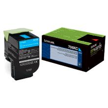 Image of Lexmark 708xce Cyan Extra High Yield Corporate Toner Cartridge 4k, Cs510