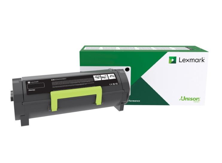 Image of Lexmark 58d6u0e Black Ultra High Yield Corporate Toner Cartridge 55k For Mx/ms82x, Mx722