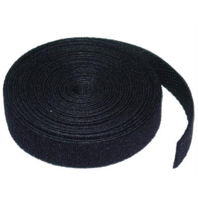 Image of 8ware 25m Hook & Loop Continuous Double Sided Roll : 12mm Wide In Black