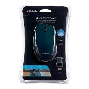 Image of Verbatim Multitrac Black Mouse Blue Led, Wireless Optical