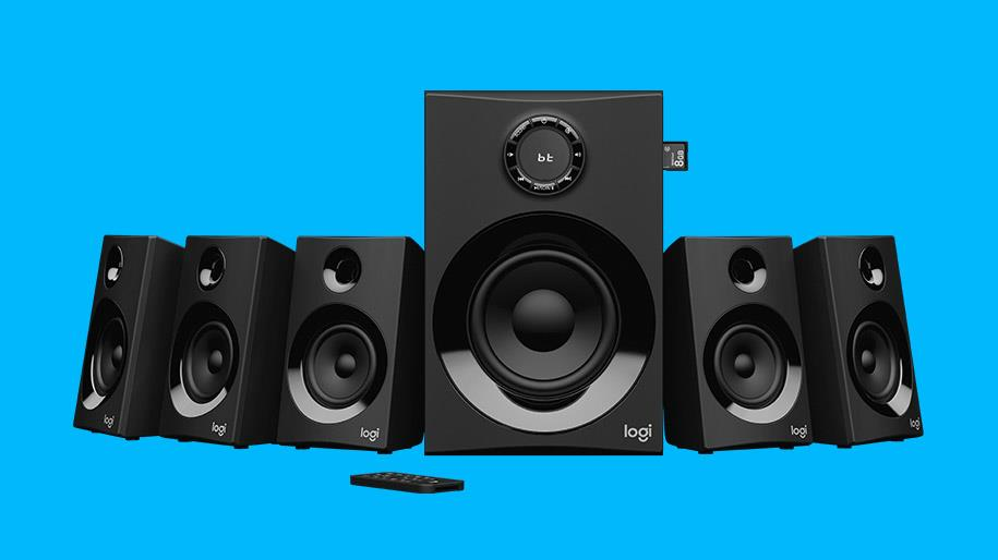 Image of Logitech Z607 5.1 Surround Sound Speaker System With Bluetooth 980-001318