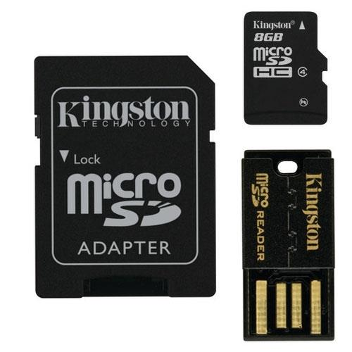 Image of Kingston Mbly4g2/8gb 8gb Multi Mobility Kit Class 4