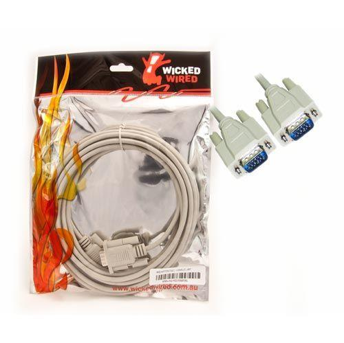 Image of Wicked Wired Ww-av-hd15mm5m 5m Hd15 15pin Male Vga To Hd15 15pin Male Vga Video Cable