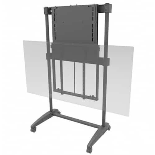 Image of Easilift Dynamic Height Adjustable Portable Tv Stand Ideal For Interactive Display Panels - 33-60kg's