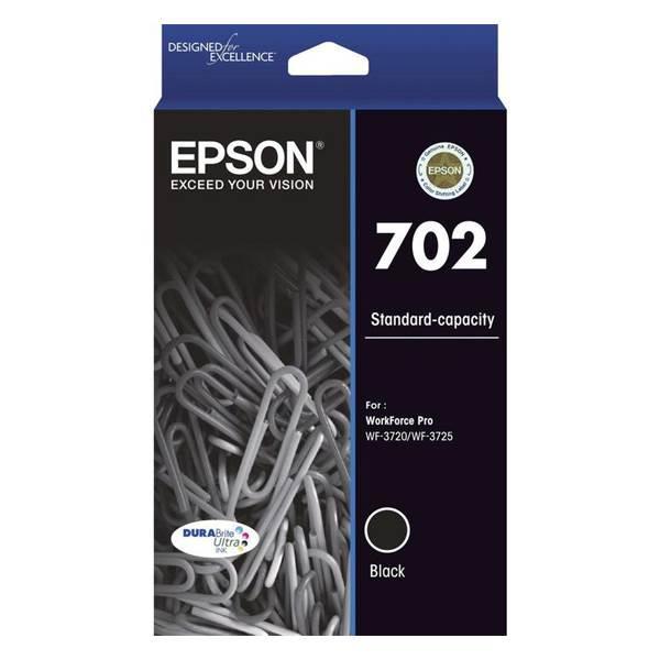 Image of Epson 702 Genuine Black Ink Cartridge - C13t344192