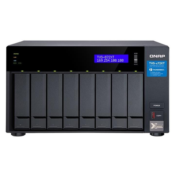 Image of Qnap Tvs-872xt-i5-16g 8 Bay Diskless Nas I5-8400t 6 Core 1.7ghz 16gb