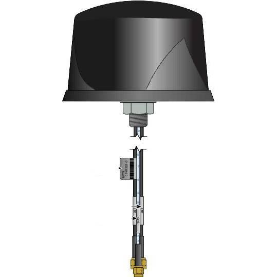Image of Cisco 4g Dual Lte-single Gps Multi-band Omni-directional Outdoor Antenna - Black