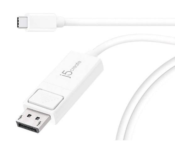 Image of J5create Jca141 Usb-c Type-c To 4k Displayport (dp) 1.2m Cable