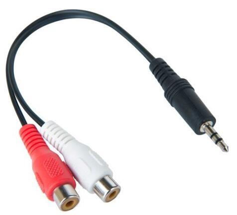 Image of Connect 3.5mm Audio Aux Male To Rca Red & White Female Stereo Split Converter 30cm