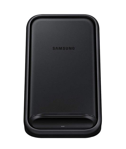 Image of Samsung Ep-n5200tbegau Standing Wireless Charger - Fast Charge For Samsung And Apple - Black