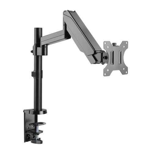 """Image of Brateck Single Arm Full Extension Gas Spring Monitor Mount - 17""""-32"""" Ldt16-c012"""