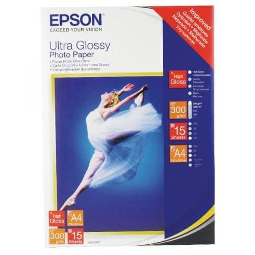 Image of Epson Ultra Glossy Photo Paper A4 15 Sheets