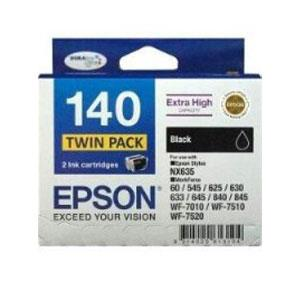 Image of Epson 140 Black Twin Pack 945 Pages X 2 Black