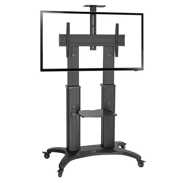 Image of North Bayou Height Adjustable Trolley For Tv Screen Size 55-80 Max 56.8kg
