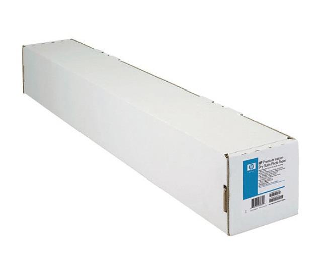 Image of Hewlett Packard Hp Premium Instant-dry Satin Photo Paper 1270 Mm X 30.5 M 50 In X 100 Ft Graphics