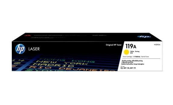 Image of Hp 119a W2092a Genuine Yellow Toner Cartridge