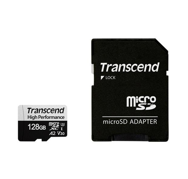 Image of Transcend 128gb 330s Uhs-i Microsdxc Memory Card Ts128gusd330s