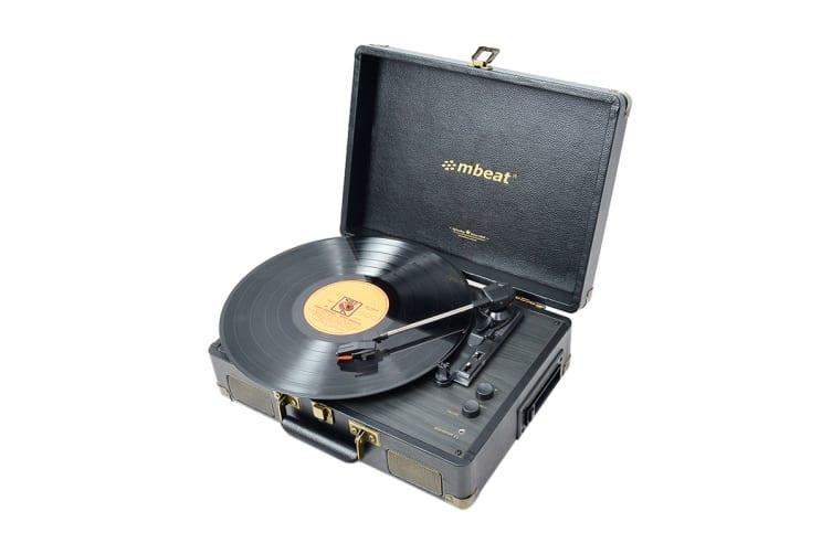 Image of Mbeat Uptown Retro Bluetooth Turntable & Cassette Player