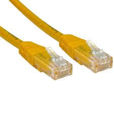 Image of Network Cable Cat6-a (backward Compatible Cat6) Rj45 0.25m 25cm Yellow