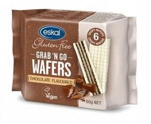 Eskal Grab 'n Go Wafers Chocolate G/F 60g