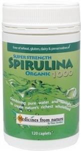 Medicines From Nature Organic Super Strength Spirulina 1000 120caps