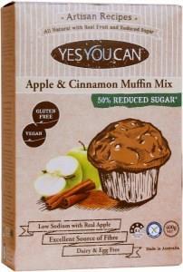 YesYouCan Artisan Apple & Cinnamon Muffin Mix G/F 400g
