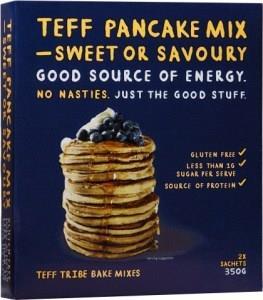Teff Tribe Pancake Mix Sweet or Savoury G/F 350g