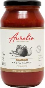 Aurelio Organic Primavera Pasta Sauce G/F 500g