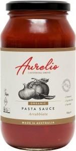 Aurelio Organic Arrabbiatta Pasta Sauce G/F 500g