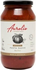 Aurelio Organic Basilico Pasta Sauce G/F 500g